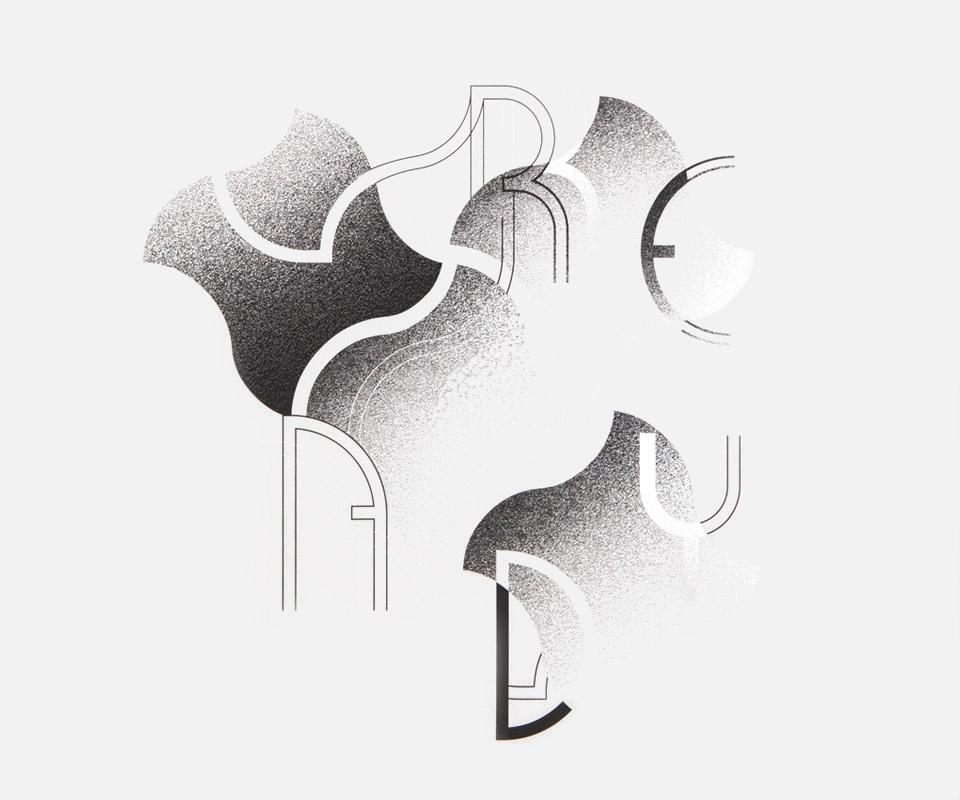 ready affiche typographie