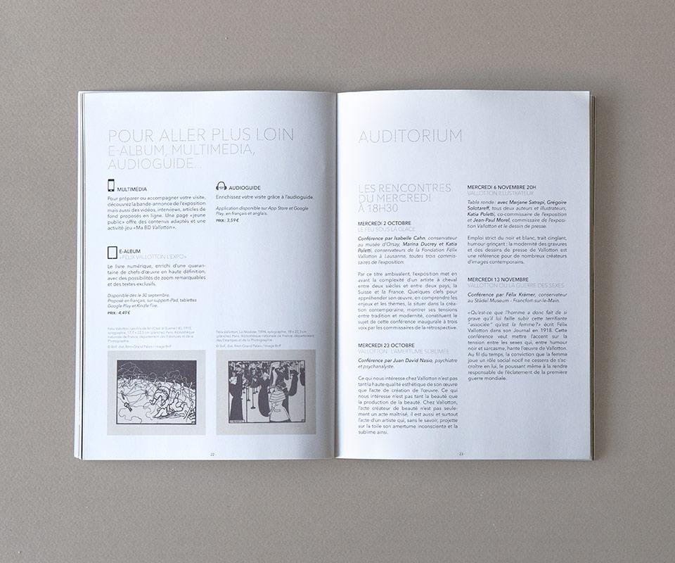 catalogue des expositions grand palais - graphisme par epok design